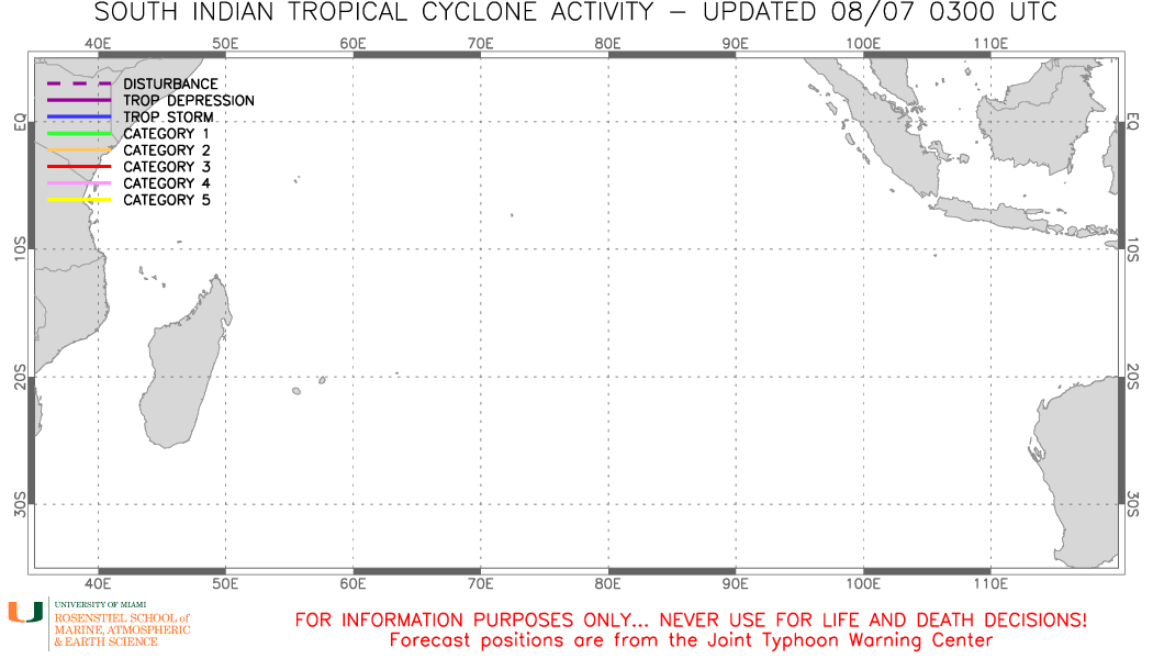South Indian Tropical Cyclone Activity